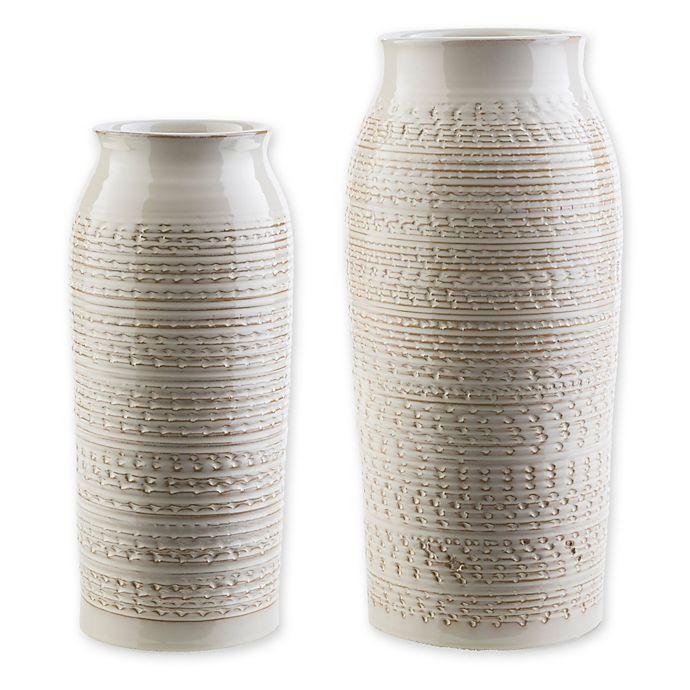Alternate image 1 for Surya Yaraka Ceramic Table Vase in Beige