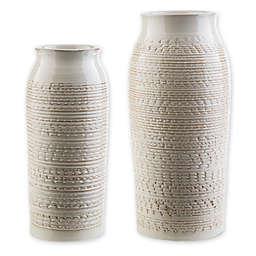 Surya Yaraka Ceramic Table Vase in Beige