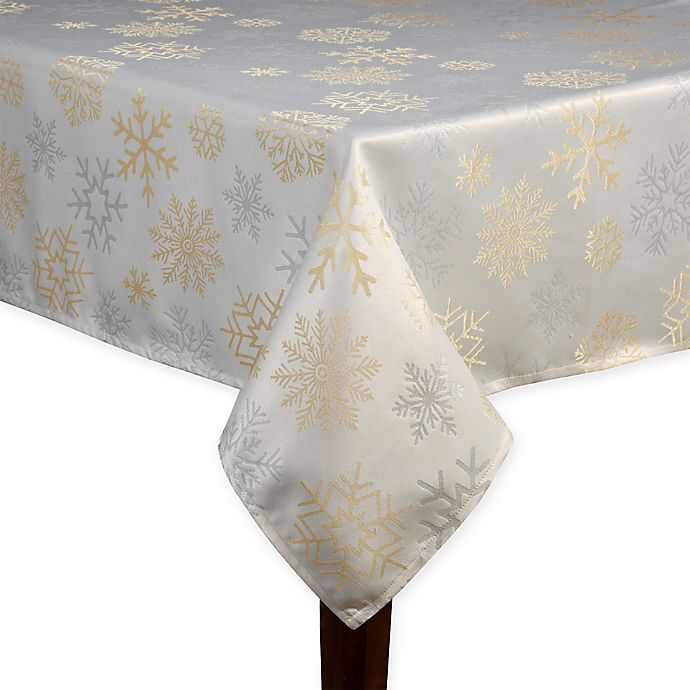 Alternate image 1 for Shimmer Snow Tablecloth