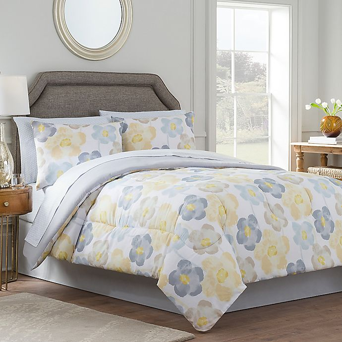 Gray And Yellow Bedroom: Antonia Reversible Comforter Set In Yellow/Grey