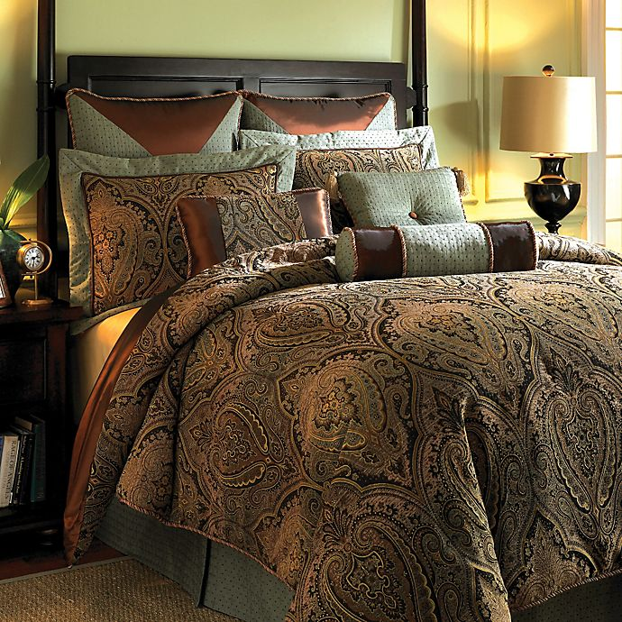 Alternate image 1 for Hampton Hill Canovia Springs King Comforter Set in Rust