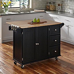 Home Styles Liberty Kitchen Cart with Wooden Top