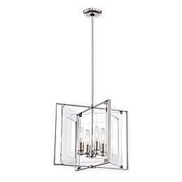 George Kovacs® Crystal-Clear 4-Light Pendant with Polished Nickel Finish