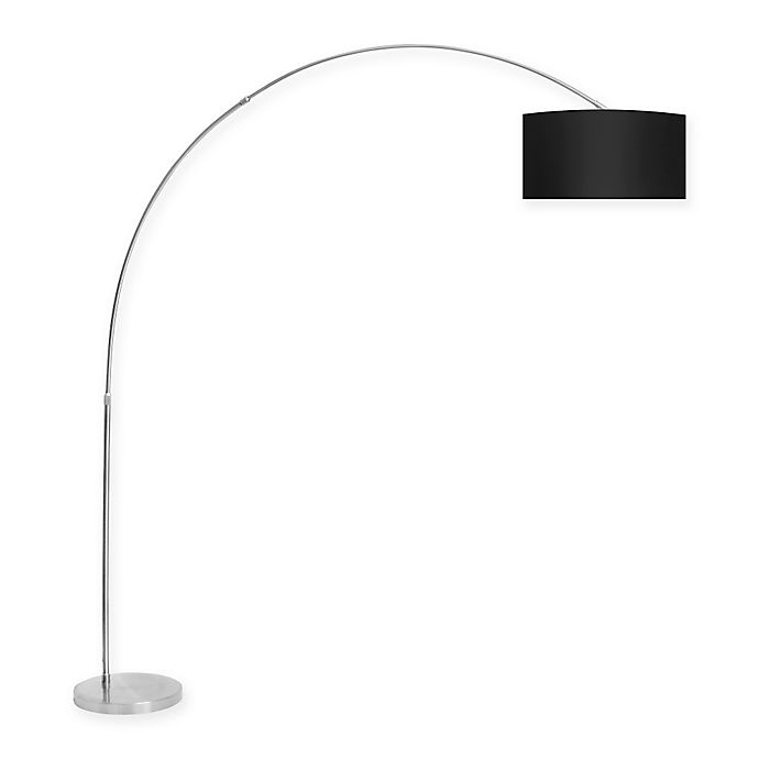 Alternate image 1 for LumiSource Salon Floor Lamp in Black with Fabric Shade