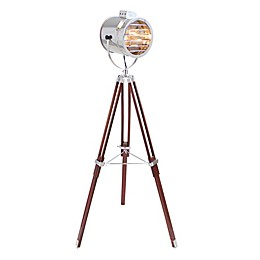 LumiSource Ahoy Floor Lamp in Chrome/Cherry