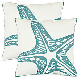 Safavieh Whitney 22-Inch x 22-Inch Throw Pillows in Blue (Set of 2)