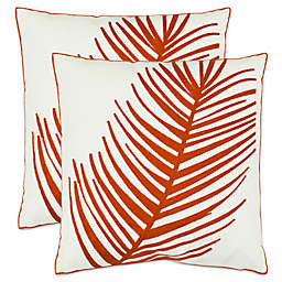 Safavieh Remy Throw Pillows in Orange (Set of 2)