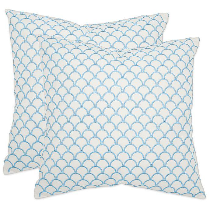 Alternate image 1 for Safavieh Nikki Throw Pillows in Blue (Set of 2)