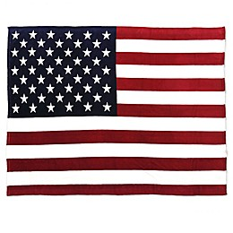 Tadpoles Large USA Flag Throw Blanket in Red, White and Blue