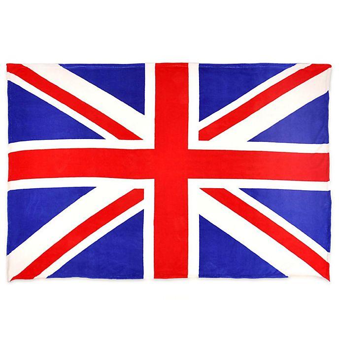 Alternate image 1 for Union Jack Flag MicroFleece Throw Blanket