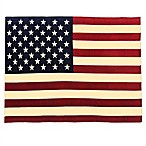 Vintage Oversized USA Flag Throw Blanket