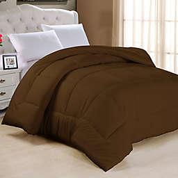 Down Alternative Full Comforter in Chocolate