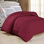 Down Alternative King Comforter in Burgundy