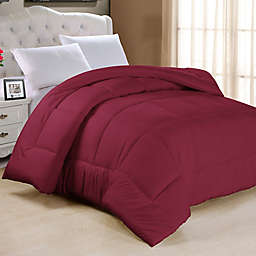 Down Alternative Queen Comforter in Burgundy