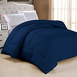 Down Alternative Twin Comforter in Navy