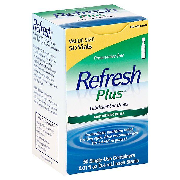 Alternate image 1 for Allegran Refresh Plus® 50-Count Lubricating Eye Drop Solution