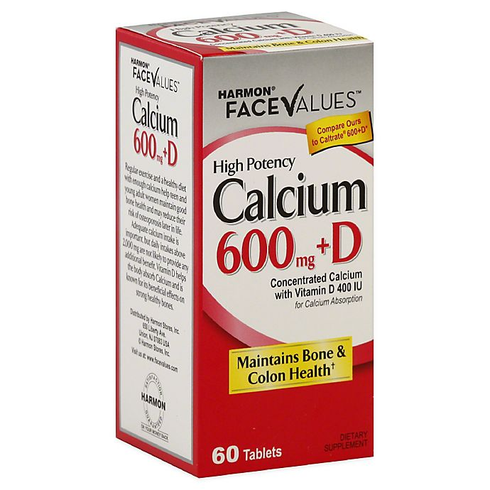 Alternate image 1 for Harmon® Face Values™ 60-Count High Potency Calcium 600mg + D Dietary Supplement