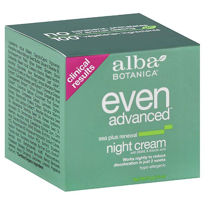 Alternate image 1 for Alba Botanica® 2 oz. Natural Even Advanced Sea Plus Renewal Night Cream
