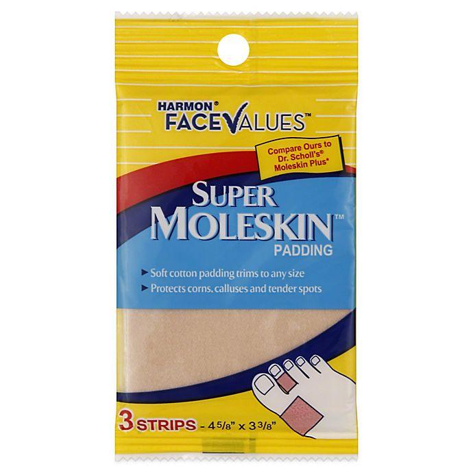 Alternate image 1 for Harmon® Face Values™ 3-Count Super Moleskin Padding