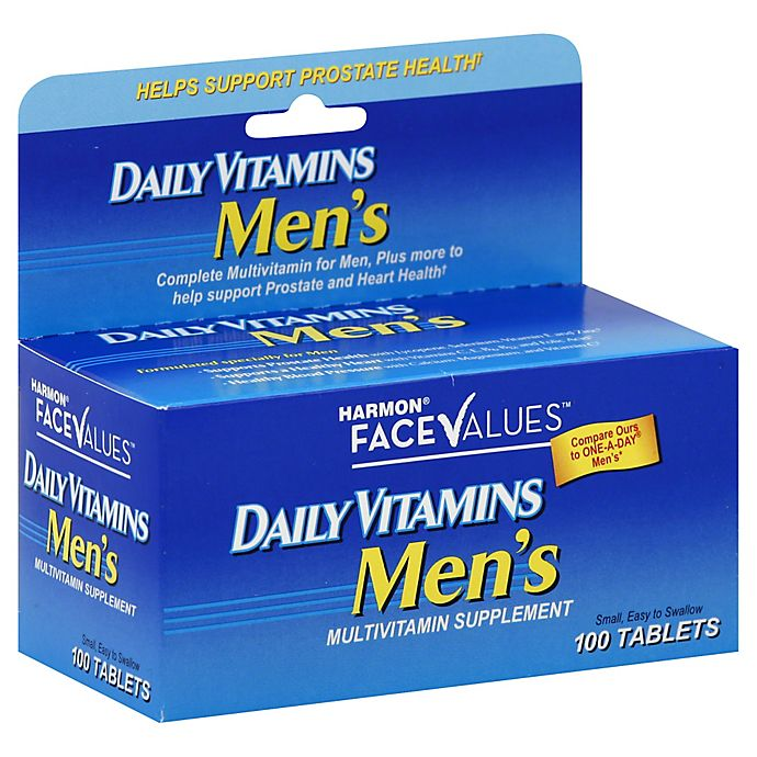 Alternate image 1 for Harmon® Face Values™ Daily Vitamins 100-Count Men's Multivitamin Supplement