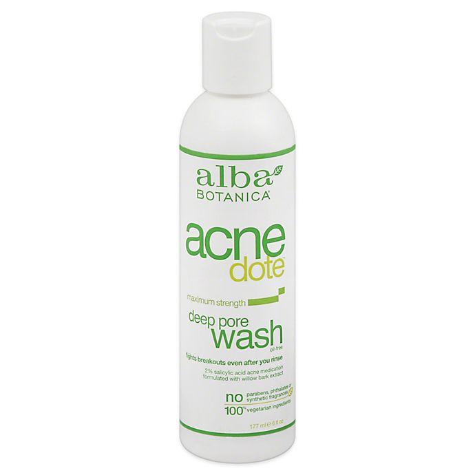 Alternate image 1 for Alba Botanica® 6 oz. Natural Acne Dote Deep Pore Wash Maximum Strength