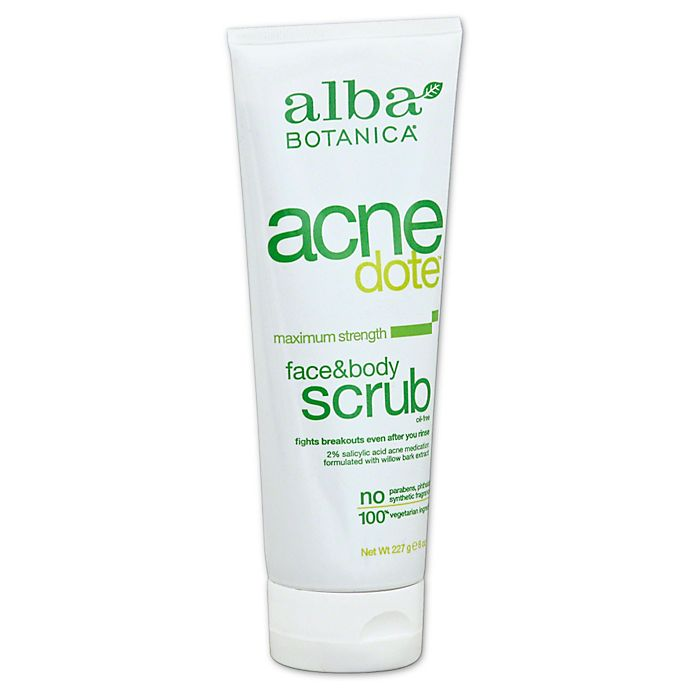 Alternate image 1 for Alba Botanica® Natural Acne Dote 8 oz. Face and Body Scrub