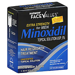 Harmon® Face Values™ 3-Count Minoxidil Topical Solution Hair Regrowth Treatment for Men