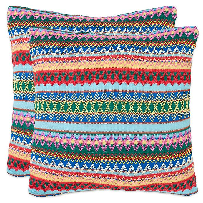 Alternate image 1 for Safavieh Mirabelle 22-Inch x 22-Inch Throw Pillows (Set of 2)