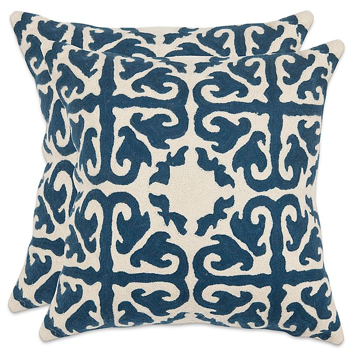 Alternate image 1 for Safavieh Moroccan 22-Inch x 22-Inch Throw Pillows (Set of 2)
