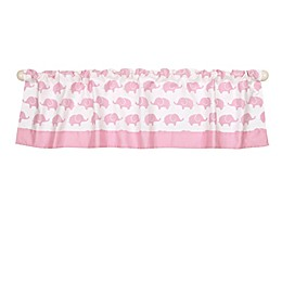 The Peanutshell™  Elephant Window Valance in Pink