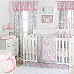 The Peanut Shell® Damask Patchwork 4-Piece Crib Set in Pink/Grey