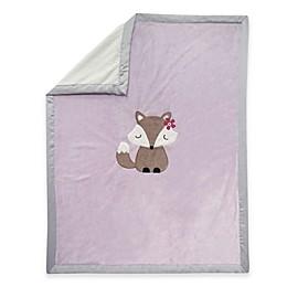 Lambs & Ivy® Fox Minky Baby Blanket in Lavender