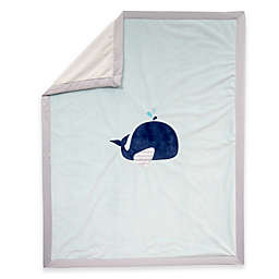 Lambs & Ivy® Whale Minky Baby Blanket in Blue