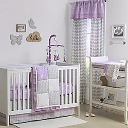 The Peanutshell™  Woodland Patchwork 4-Piece Crib Bedding Set in Purple/Grey