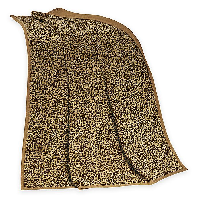 Alternate image 1 for HiEnd Accents San Angelo Leopard Throw Blanket