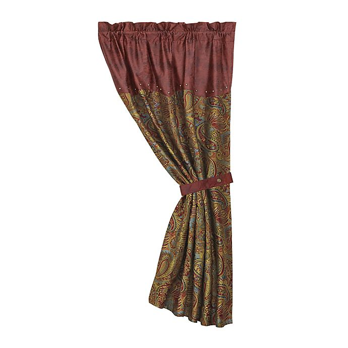 Alternate image 1 for HiEnd Accents San Angelo Paisley Window Curtain Panel