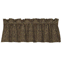 HiEnd Accents San Angelo Leopard Window Valance