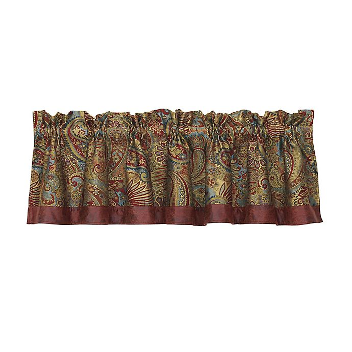 Alternate image 1 for HiEnd Accents San Angelo Paisley Window Valance