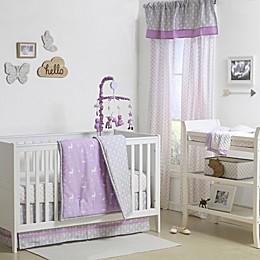 The Peanutshell™  Woodland 4-Piece Crib Set in Purple/Grey