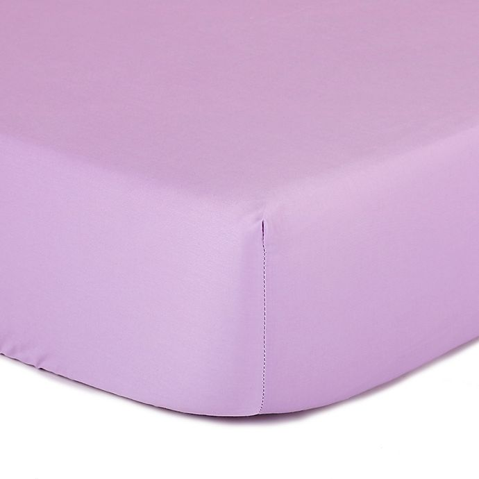 Alternate image 1 for The Peanut Shell™ Solid Fitted Crib Sheet in Purple