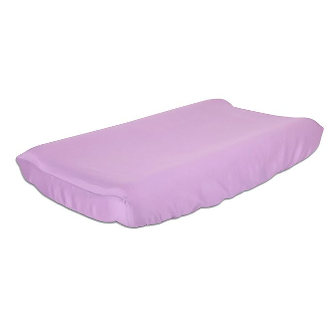 Alternate image 1 for The Peanut Shell™ Solid Changing Pad Cover in Purple
