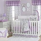 The Peanut Shell® Damask 4-Piece Crib Set in Purple/Grey