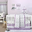 Part of the The Peanutshell™  Elephant Crib Bedding Collection in Grey/Purple