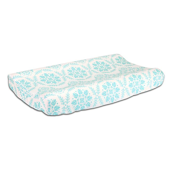Alternate image 1 for The Peanutshell™  Medallions Changing Pad Cover in Teal