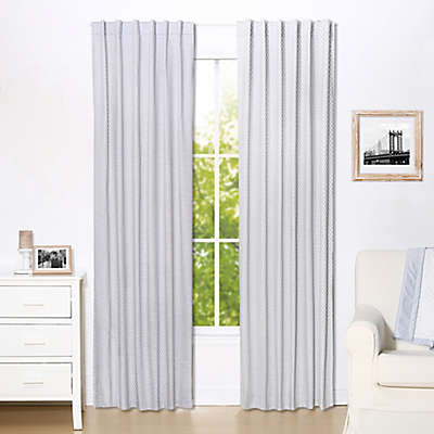 The Peanut Shell™ Dots Blackout Window Curtain Panels in Grey (Set of 2)