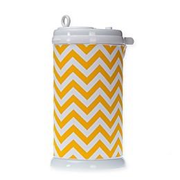 Glenna Jean Swizzle Chevron Ubbi® Diaper Pail Cover in Yellow/White