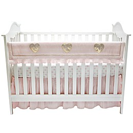 Lambs & Ivy® Sweetheart Rail Guard in Pink/Gold