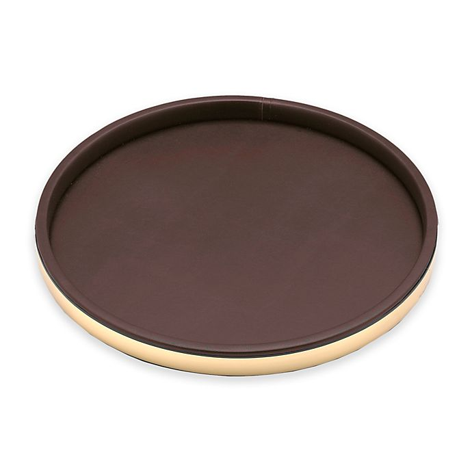 Alternate image 1 for Kraftware™ Sophisticates 14-Inch Round Tray in Polished Gold