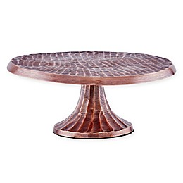 Old Dutch International Tribal Cake Stand in Antique Copper-Plate