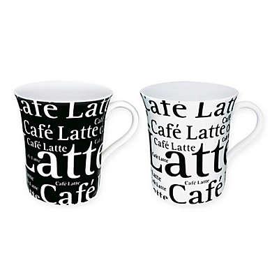 "Konitz ""Café Latte"" Writing Mugs (Set of 4)"